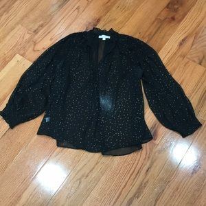 Loft sheer blouse. Perfect for holidays!